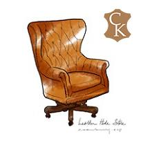 Tufted Wingback Executive Chair Oversized