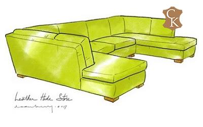 Armless Sectional with Double Chaise