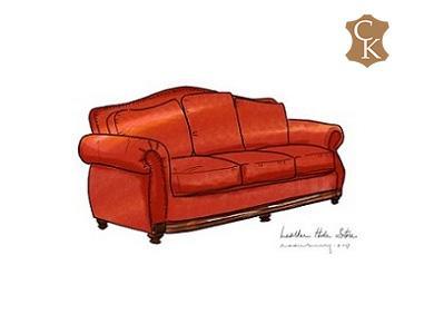 Camel Back Loose Cushion Sofa 96