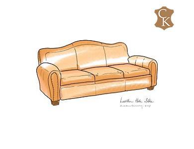 Camel Back Sofa 84