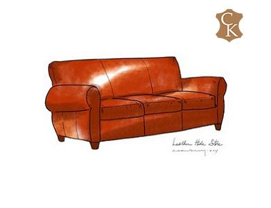 Club Style Sofa with Tight Back Cushions 84