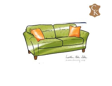 Contemporary Flared Arm Loveseat 60