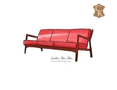 Danish Mid Century Modern Sofa 73