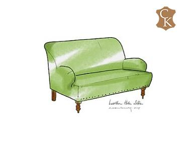 English Roll Arm Loveseat with Tight Back & Seat 60