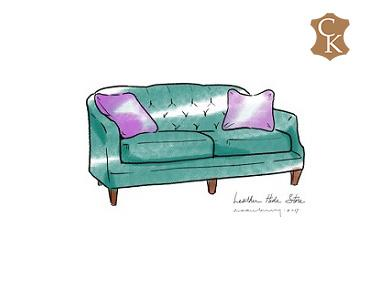 French Provincial Style Tufted Loveseat 62