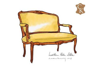 French Victorian Settee 51