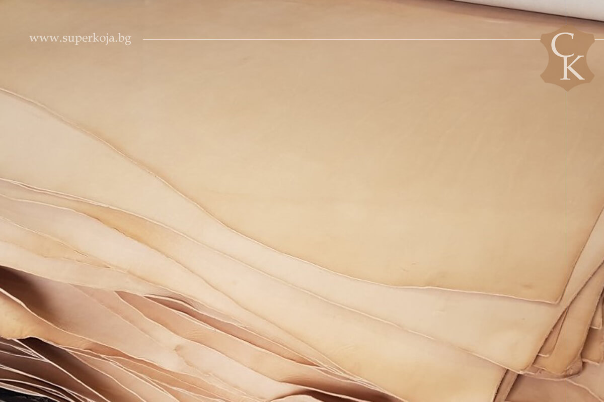 Кожа бланк за колани кании натурал растително дъбен - 2