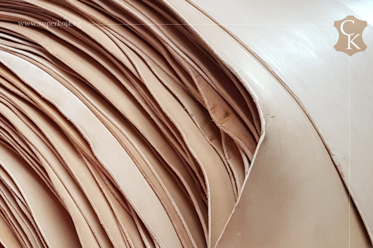 Кожа бланк за колани натурал растително дъбен 3,0 мм - 1