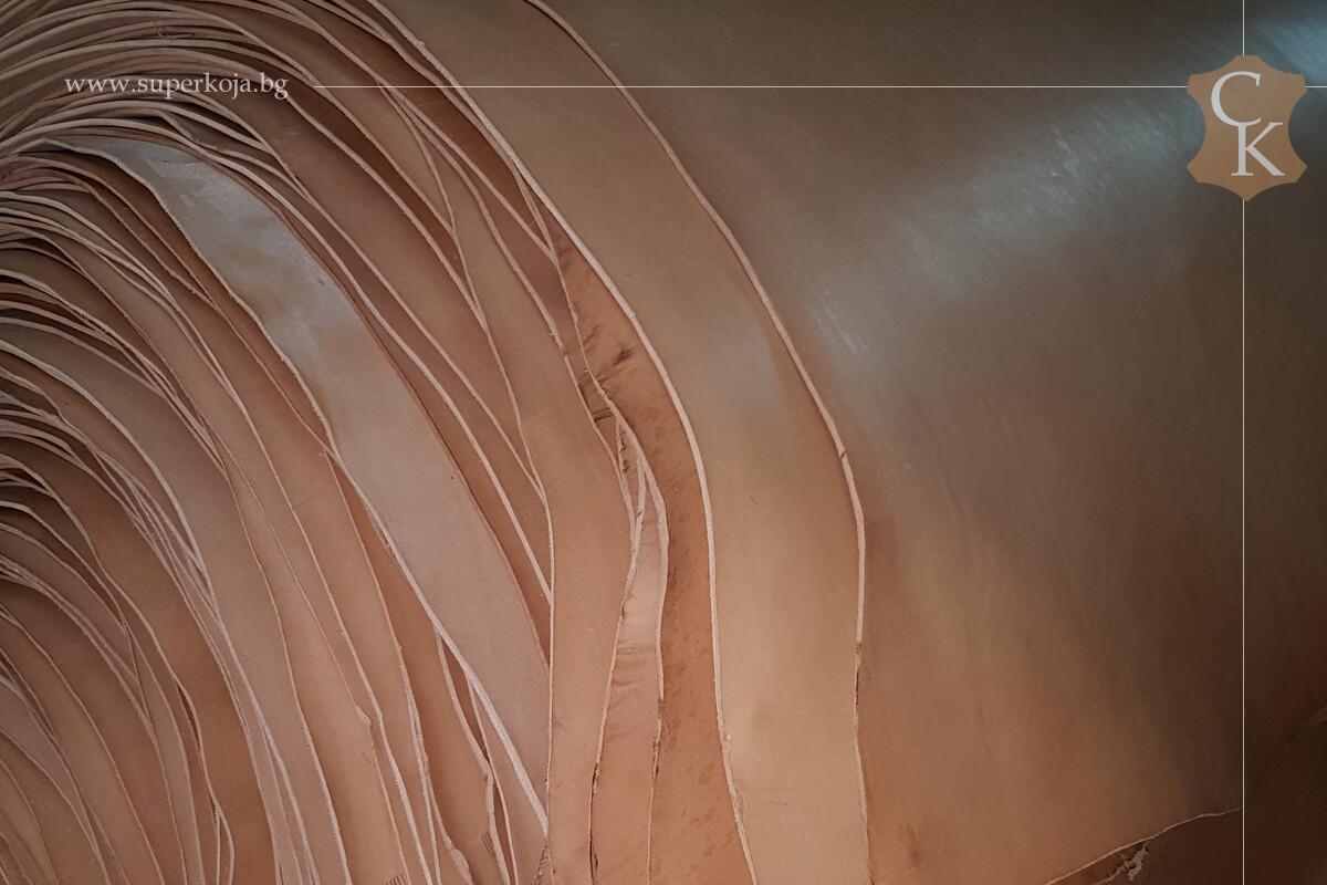 Кожа бланк за колани натурал растително дъбен 3,0 мм - 2