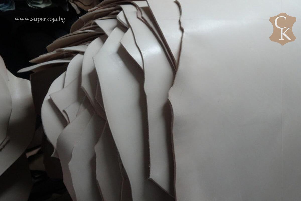 Кожа бланк за колани натурал растително дъбен 3,0 мм и 3,5 мм - 1