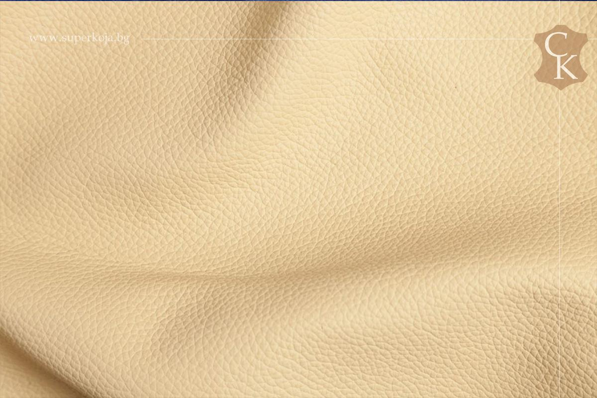 Кожа за тапицерия - шагрен - Бежов цвят - 1