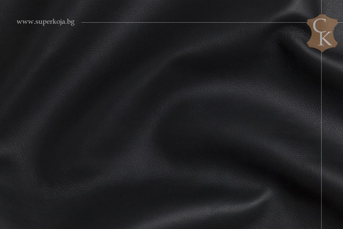 Кожа за тапицерия -гладка - Черен 1 - 1