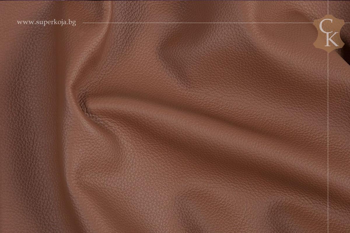 Кожа за тапицерия - шагрен - кафяв 2 - 1