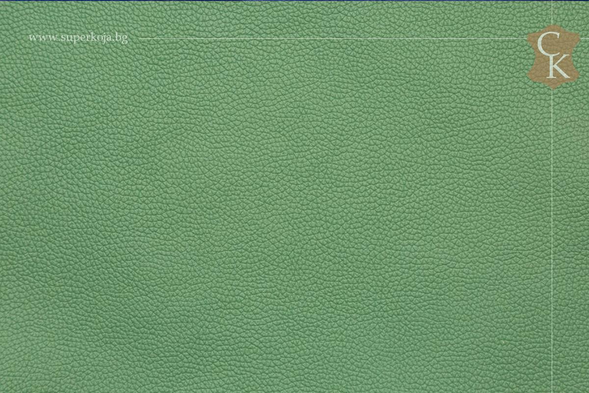 Кожа за тапицерия - шагрен - светло  зелен - 2