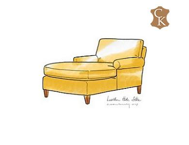 Lawson Style Chaise Lounge