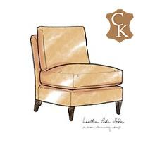 Loose Cushion Slipper Chair Loose Back and Seat