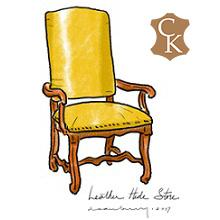 Louis XIII Style Os de Mouton Dining Chair