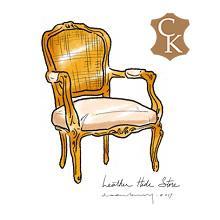 Louis XVI Style Cane Back Fauteuil Chair