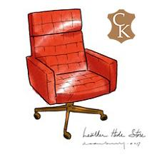 Mid Century Tufted Office Chair
