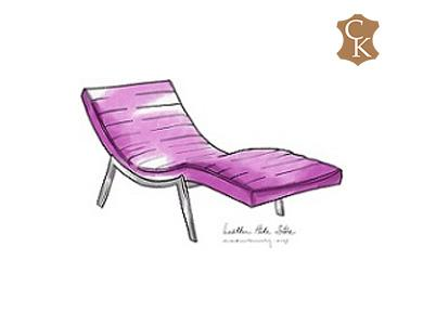 Modern-ribbed-chaise-lounge