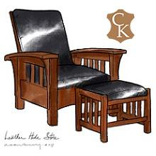 Morris (Mission Style) Chair with Ottoman