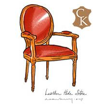 Oval Back Louis XVI Fauteuil Chair