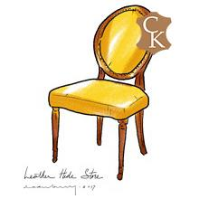 Oval Back Louis XVI Style Dining Chair