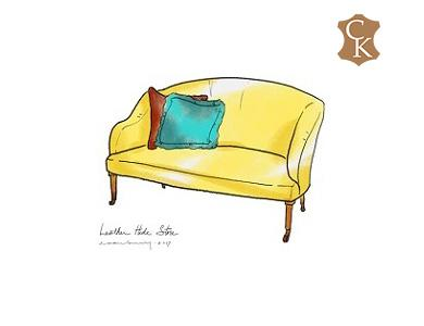 Petite Curved Back Settee 55
