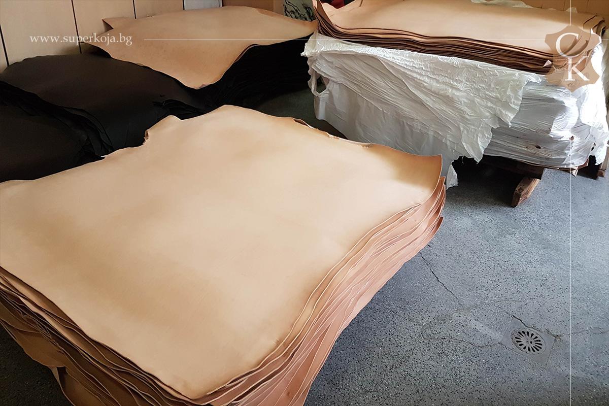 Растително дъбена натурална кожа бланк 3.0 мм - 1