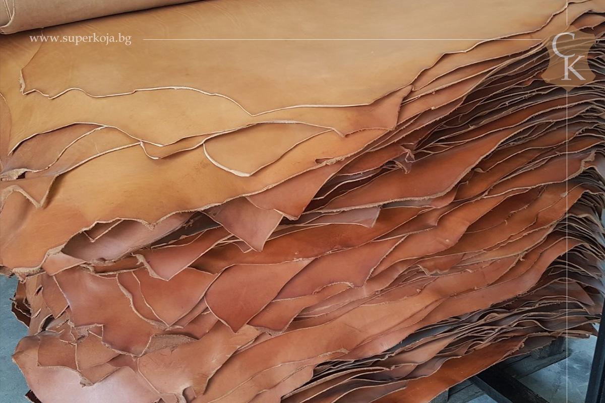 Растително дъбена натурална кожа бланк 3.5 мм - 1