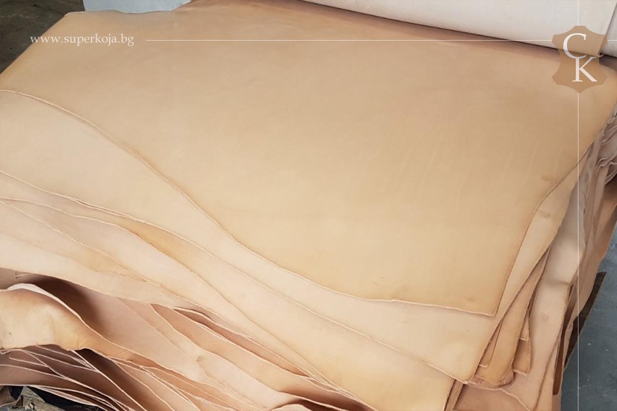 Растително дъбена натурална кожа бланк 4.0 мм - 1