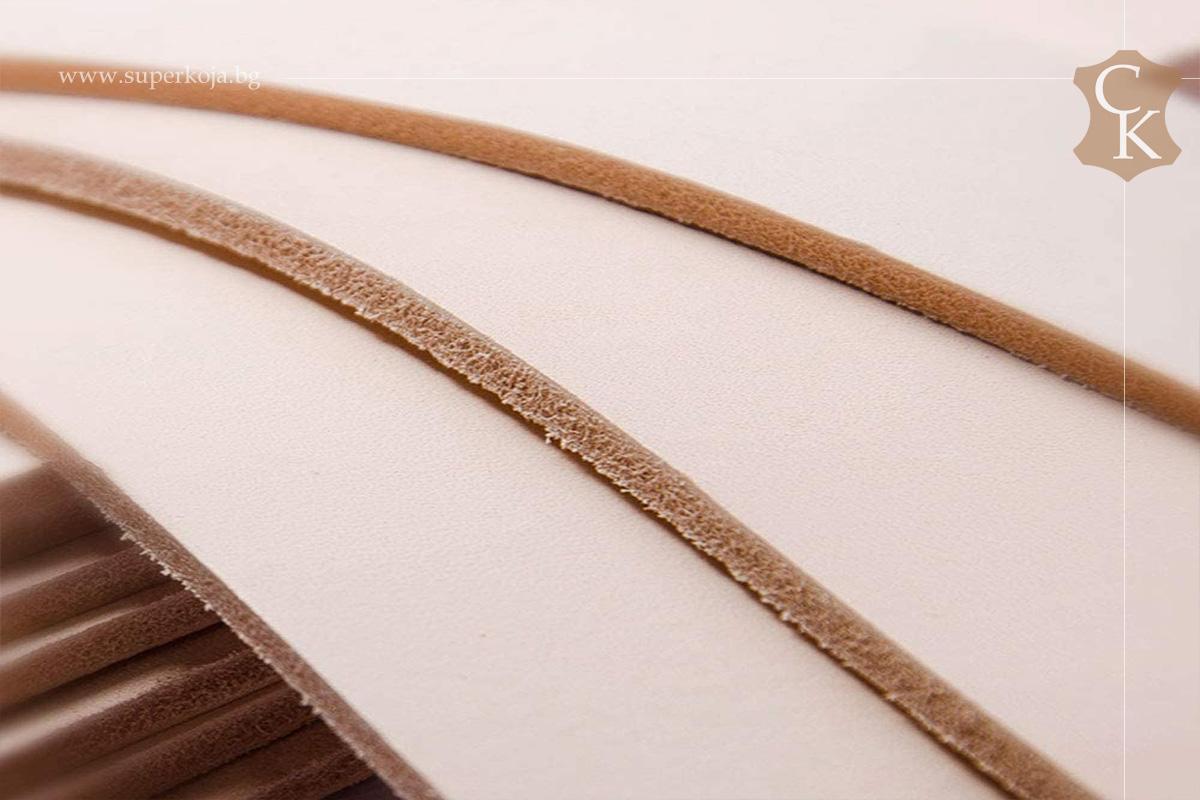 Растително дъбена натурална кожа бланк за колани - 1