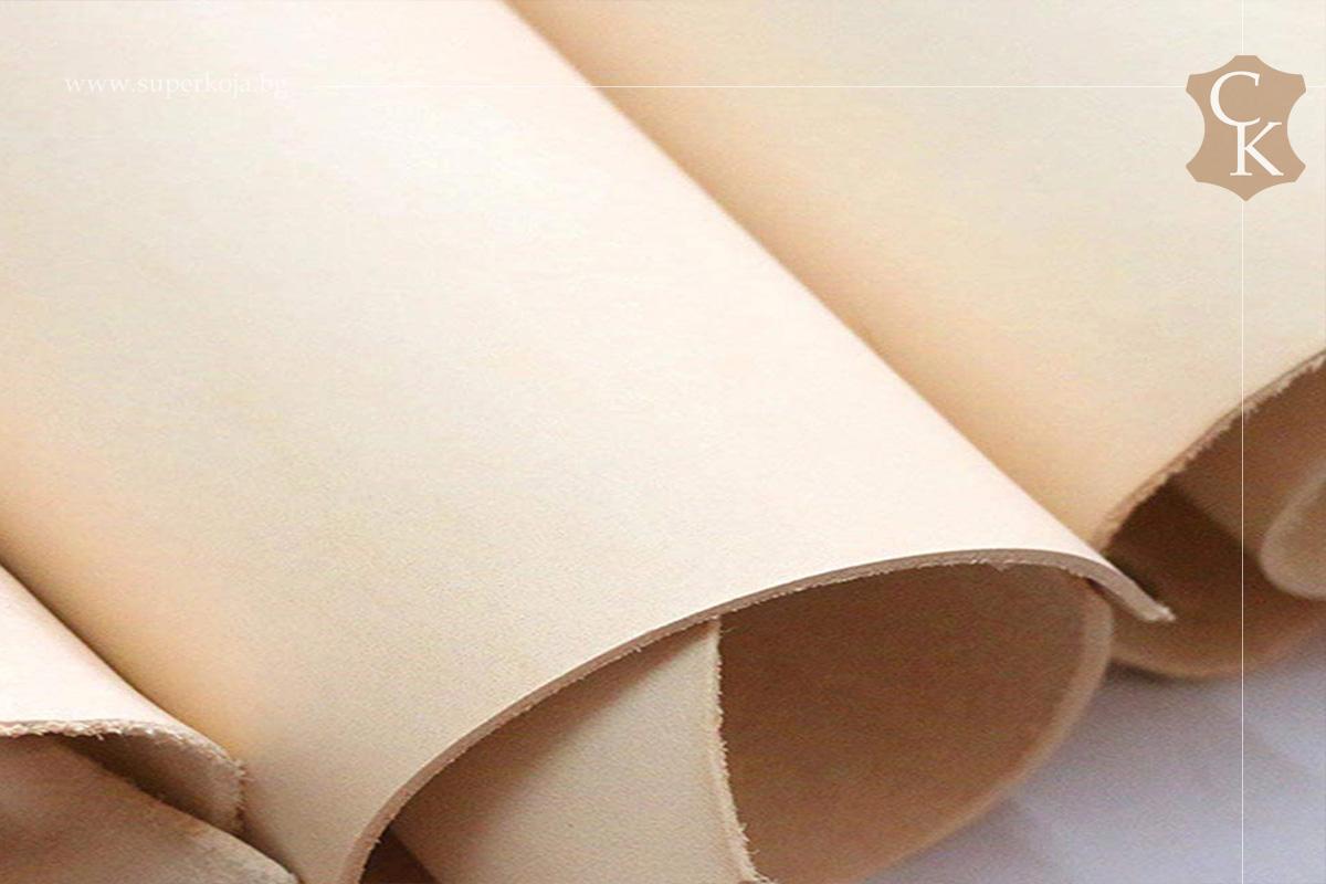 Растително дъбена натурална кожа бланк за колани - 3