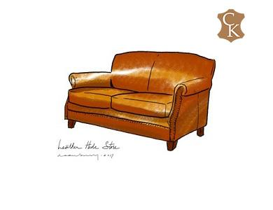 Recessed Roll Arm Loveseat with Tight Back 60