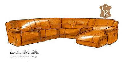 Reclining Pillow Top Arm Sectional with Chaise