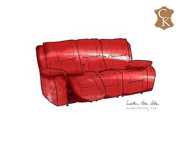 Reclining Three Seat Sofa 86