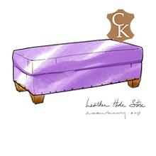 Rectangle Cocktail Style Ottoman
