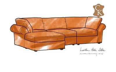 Roll Arm Lawson Sectional with Chaise & Side Cushion