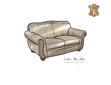Roll Arm Loveseat with Tight Back Cushion 63