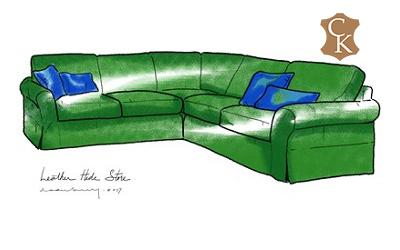 Skirted Lawson Sectional