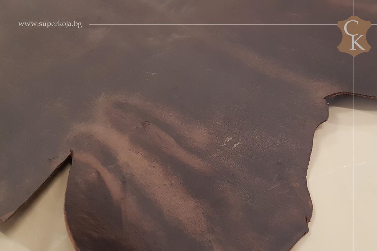Телешка кожа Крейзи хорс кафяв - 1