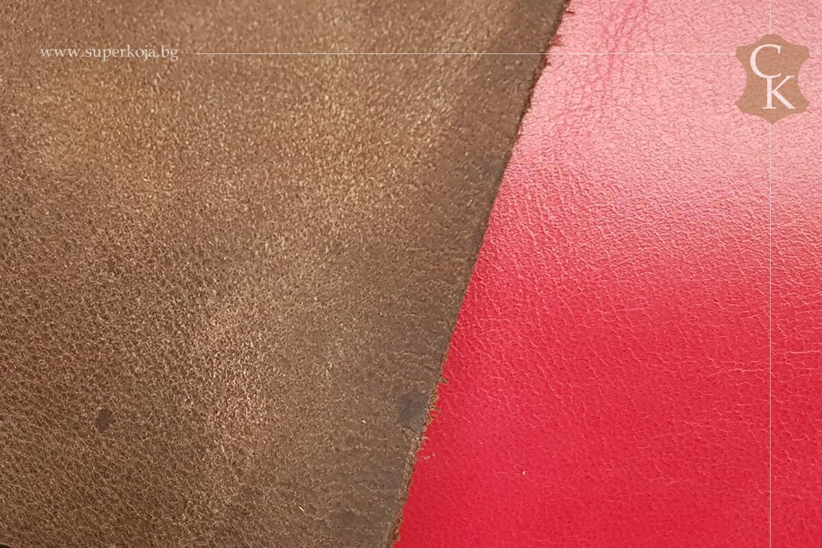 Телешка кожа за обувки набук - 1