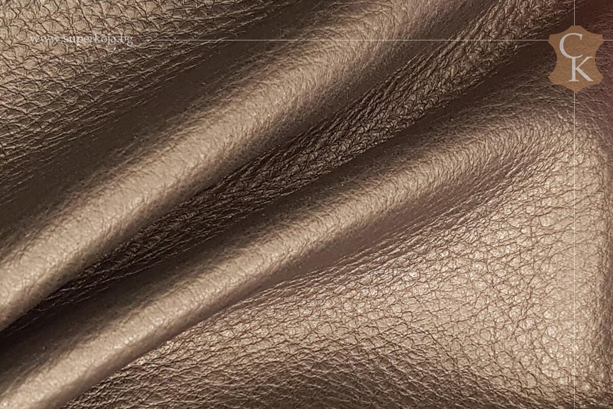 Телешка кожа за обувки черен шагрен - 1