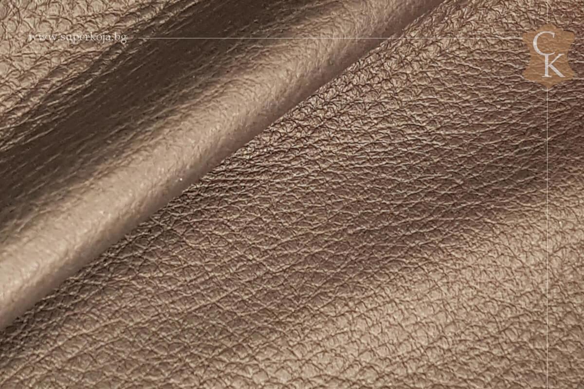 Телешка кожа за обувки черен шагрен - 2
