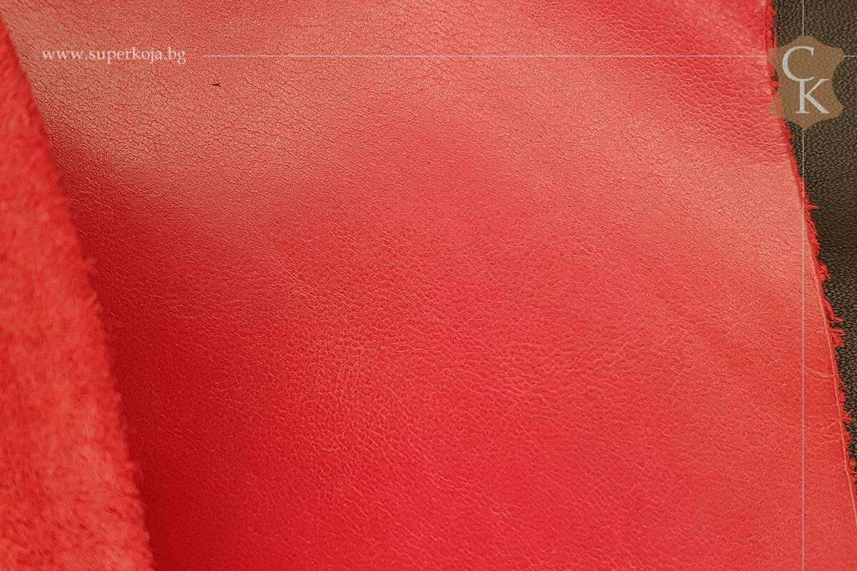 Телешка напа за обувки червен - 3