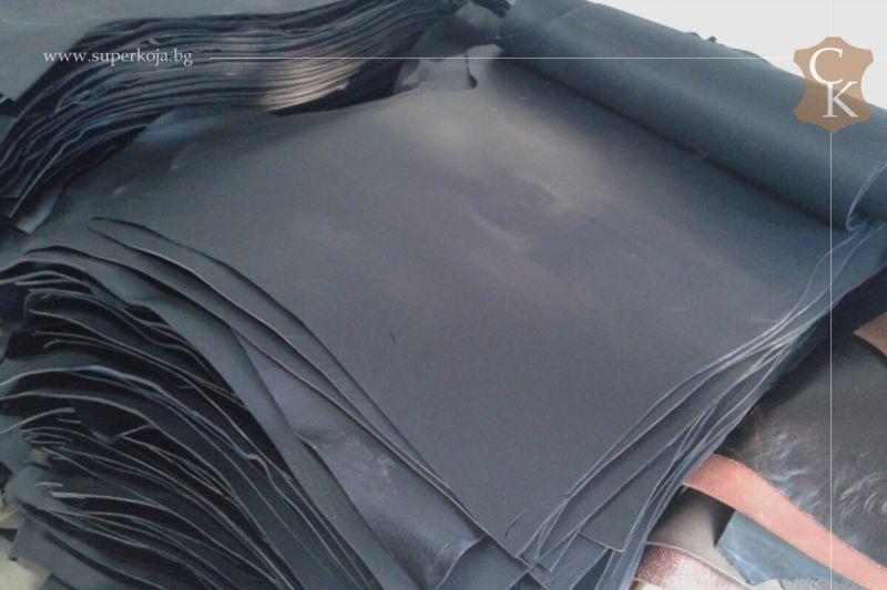 Бланк кожа за колани черно крупон - 11