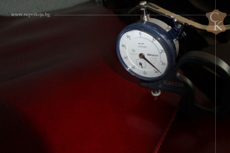 Бланк кожа за колани червен крупон - 11