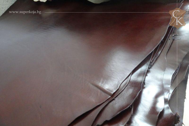 Кожа бланк за колани кафяв - 12