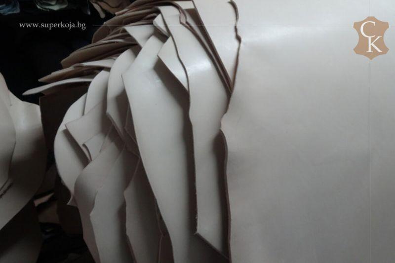 Кожа бланк за колани натурал растително дъбен 3,0 мм и 3,5 мм