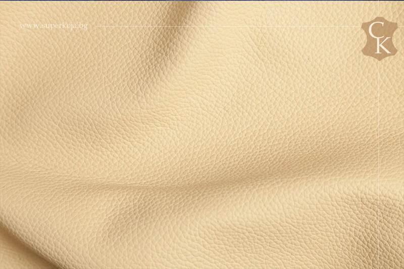 Кожа за тапицерия - шагрен - Бежов цвят